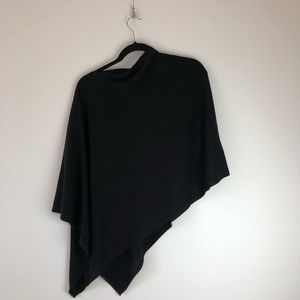Asymmetrical Black Poncho
